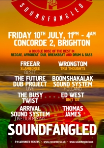 Brighton Soundfangled Concorde 2 July 10th 2015  Reggae Drum & Bass Wrongtom Slamboree